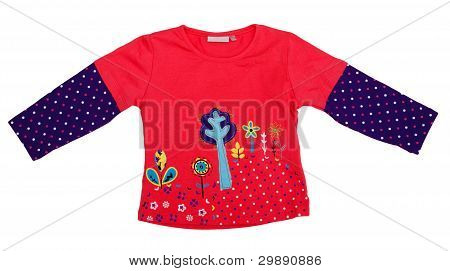 Children's Clothes Isolated On A White Background.