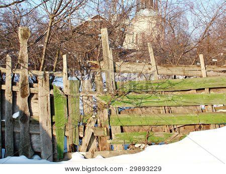 Destroyed Fence