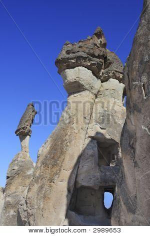 Houses In Fairy Chimneys Turkey