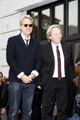 LOS ANGELES - FEB 6: Gerry Beckley; Dewey Bunnell at a ceremony where their rock band 'America' in h