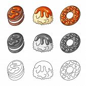 Isolated Object Of Confectionery And Culinary Icon. Set Of Confectionery And Product Stock Vector Il poster