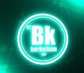 Berkelium Chemical Element. Sign With Atomic Number And Atomic Weight. Chemical Element Of Periodic  poster