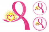 image of breast cancer awareness ribbon  - Hope for breast cancer  - JPG