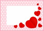 Red Hearts Shape On Pink Pastel Color Soft For Banner Background Copy Space, Many Heart Shape For Ba poster