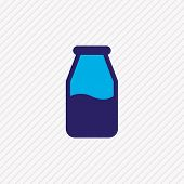Illustration Of Milk Bottle Icon Colored Line. Beautiful Eating Element Also Can Be Used As Lactose  poster
