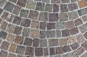 image of porphyry  - Typical italian cobblestone used to pave sidewalks or roads - JPG
