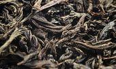 Macro Shot Of A High Quality Black Tea. Black Tea Background Close Up. Leaf Closeup. Background Of D poster