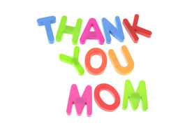 picture of i love you mom  - Thank You Mom on a White Background - JPG