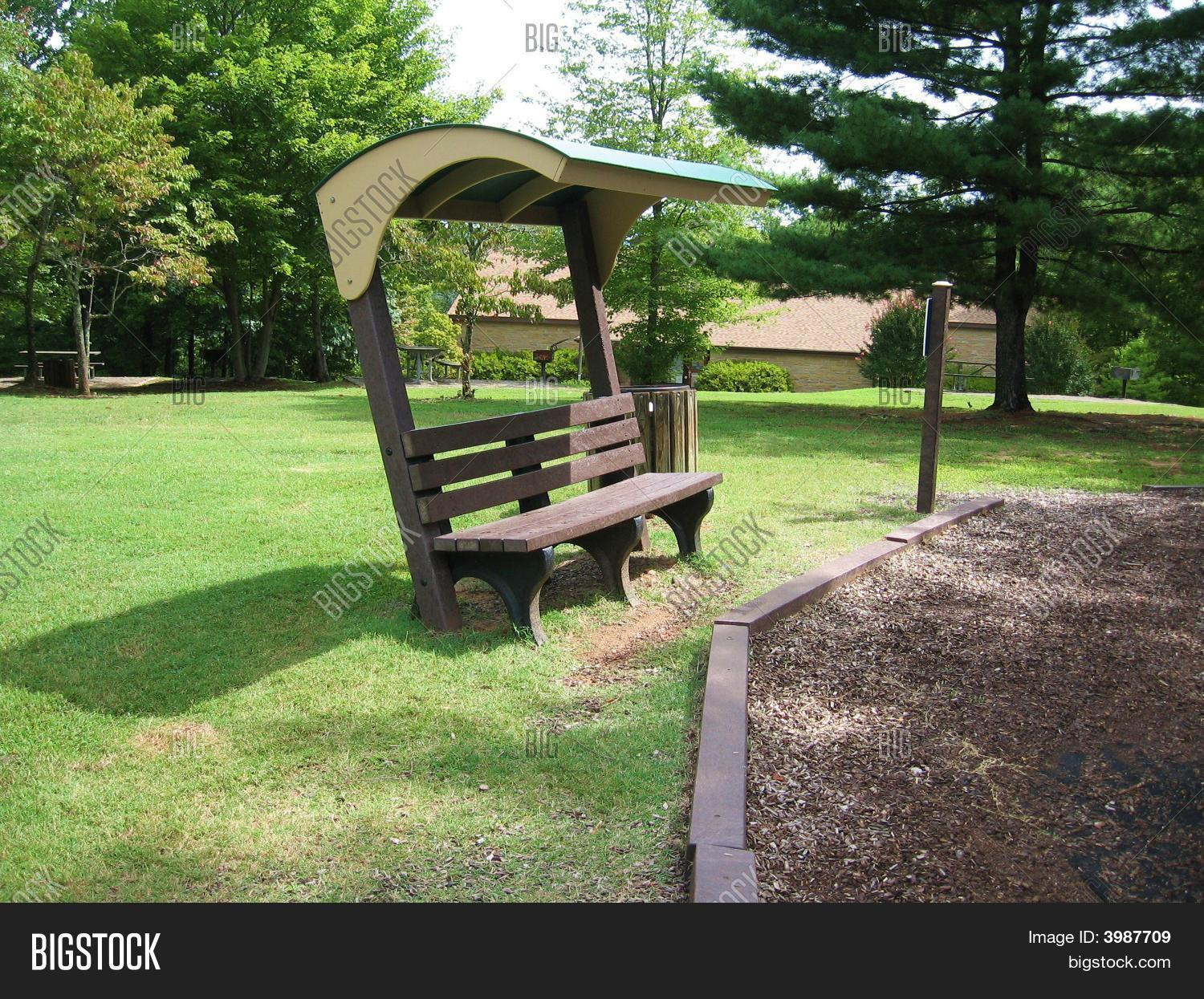Park Bench With Cover Stock Photo Amp Stock Images Bigstock