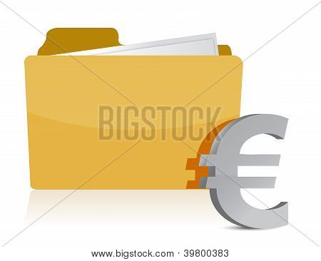 Euro Sign And Folder