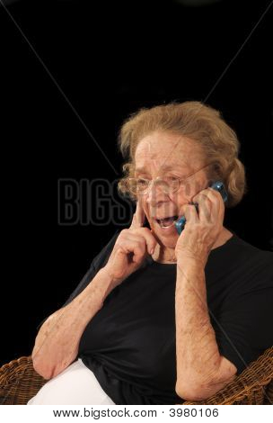 Grandmother On Phone
