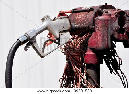 Rusty Old Gas Pump