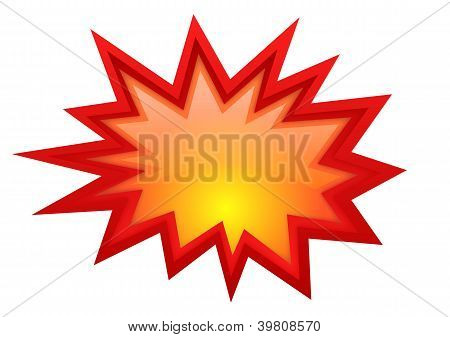 Vector bursting star illustration