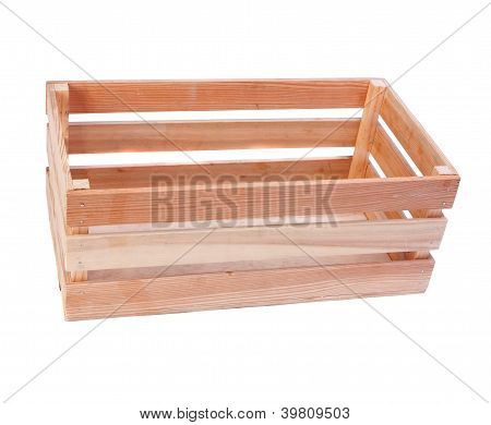 wooden box isolated