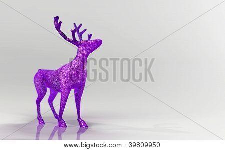 Purple sparkly reindeer