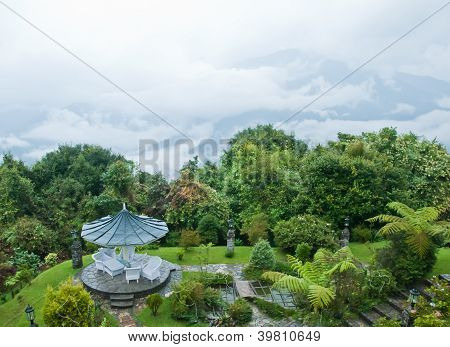 Beautiful Garden In The Mountain