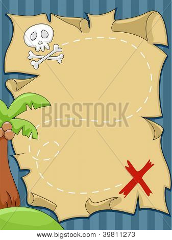 Background Illustration of Pirate Map