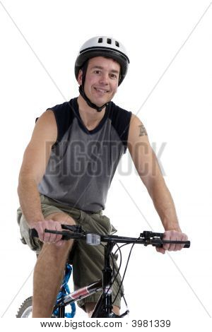 Male With Bicycle