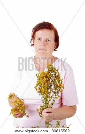 Woman With Hypericum