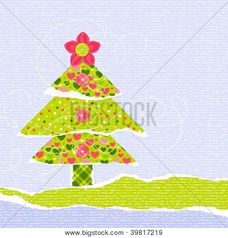 Stylish New Year Or Christmas Scrapbooking Card