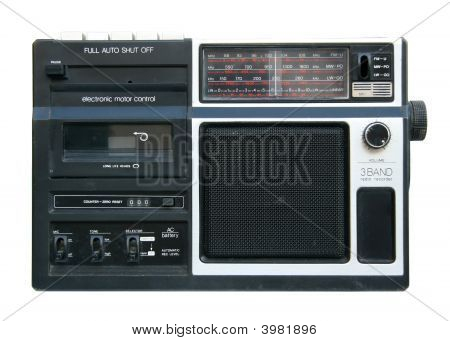 Old Portable Radio Cassette Player