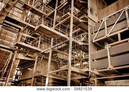 Metal Construction - Abandoned Industrial Area