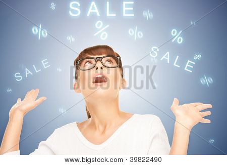 picture of woman with facial expression of surprise