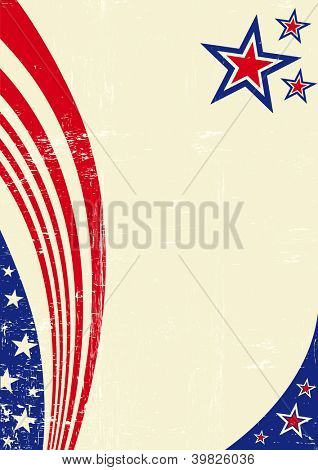 American scratched paper. An american background for your message.