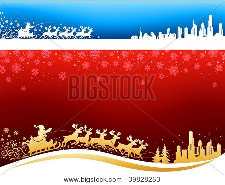Santa approaching Christmas Backgrounds