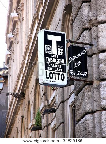 Italian Tobacconist Sign
