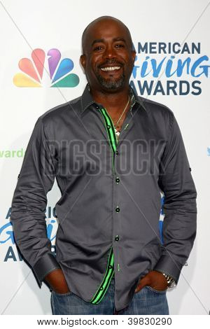 LOS ANGELES - DEC 7:  Darius Rucker arrives to the 2012 American Giving Awards at Pasadena Civic Center on December 7, 2012 in Pasadena, CA