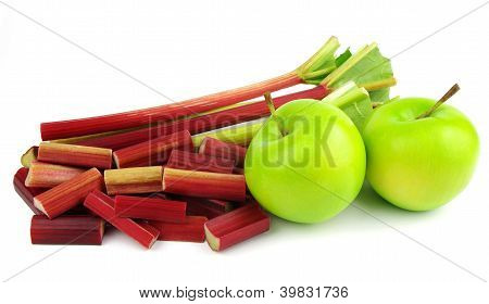 rhubarb and apples