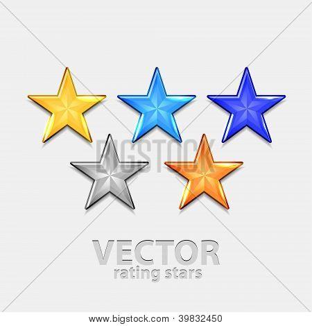 Shiny vector stars