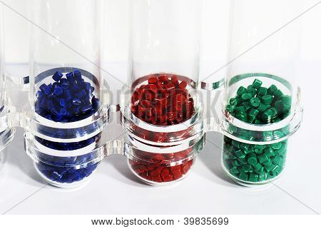 blue-red-grenn in laboratory