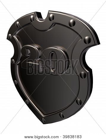 Number On Metal Shield