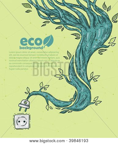 ecology energy. BIO background