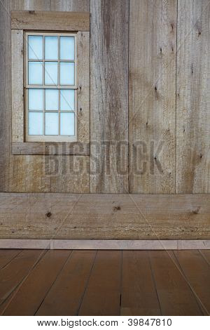 Wooden Wall And Window