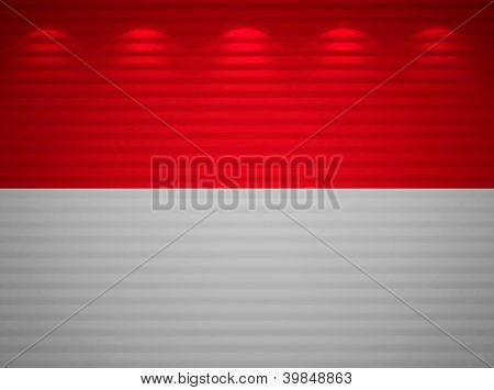 Monegasque Flag Wall, Abstract Background