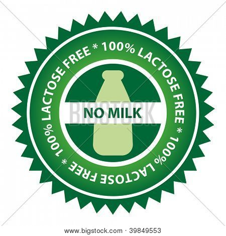 100% Lactose Free food label.