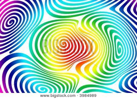 Psychedelic rainbow swirls