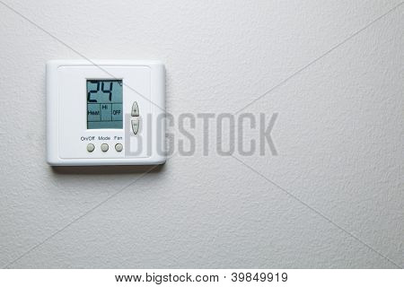 digital climate control with copy-space