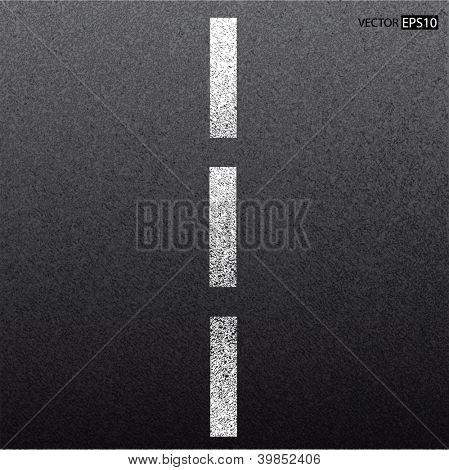 Asfalto escura textura com linha branca