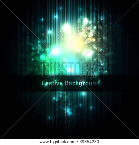 Festive background of glittering lights   Layered EPS10 Vector Background