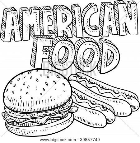 Esboço de comida americana