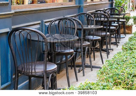 Black Tables And Black Chairs