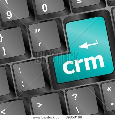 Crm Keyboard Button On Computer Pc