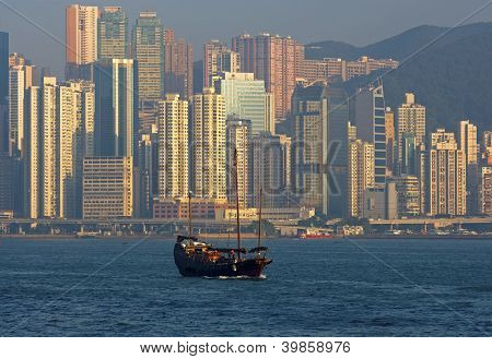 skyscrapers of Hong Kong Island
