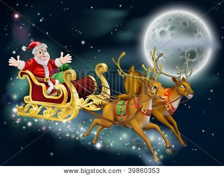 Santa And Sleigh