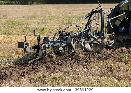 Furrow in a Field.