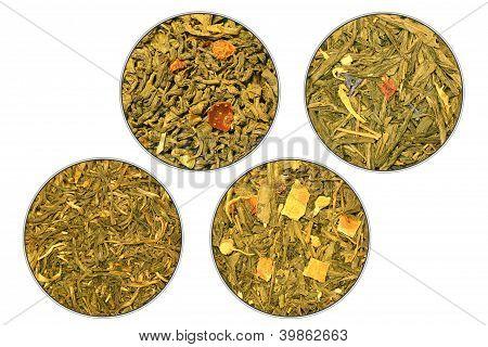 Four Grades Of Green Tea